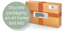 Discrete Packaging on all home testing kits