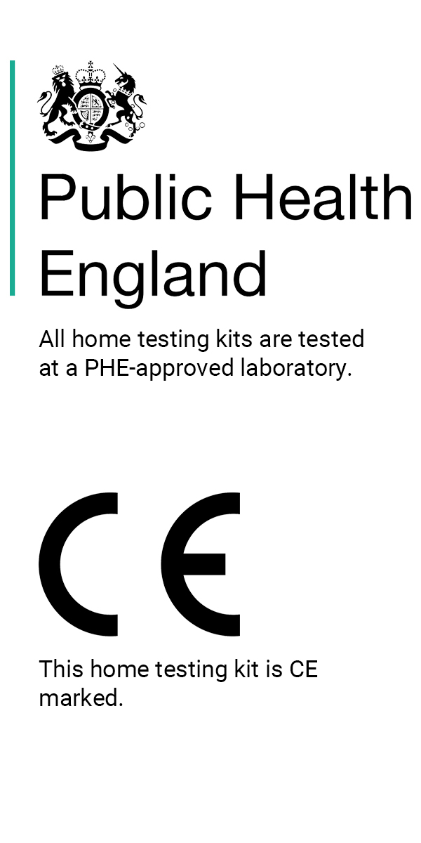 Public Health England (PHE) - approved and CE marked Coronavirus Covid-19 Home Testing Kit