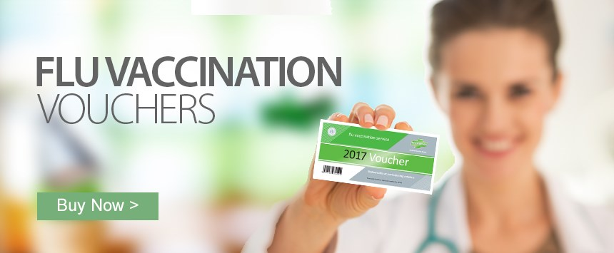 UK Flu Vaccination Voucher - redeemable at over 2,500 pharmacies nationwide