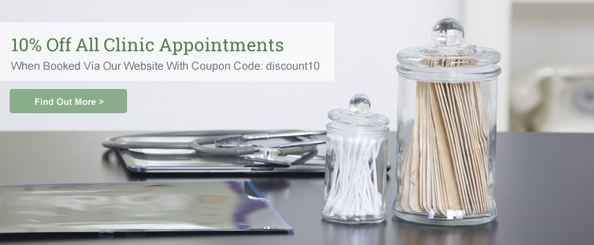 10% Off All Clinic Appointments When You Book Online